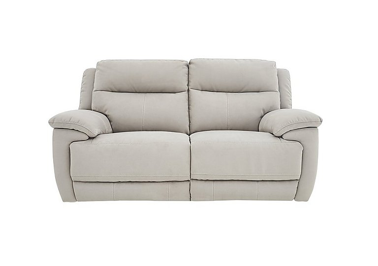 Touch 2 Seater Fabric Recliner Sofa in Bfa-Mad-R02 Silver Grey on FV