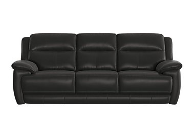 Touch 3 Seater Leather Recliner Sofa in Bv-3500 Classic Black on FV