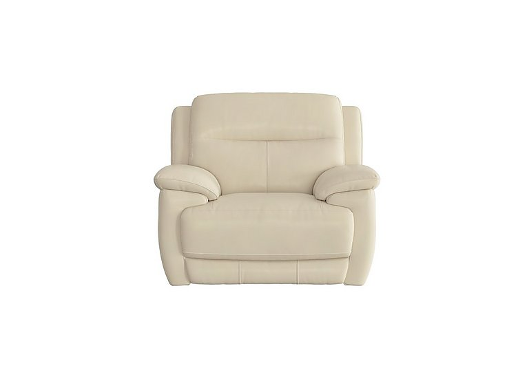 Touch Leather Recliner Armchair in Bv-862c Bisque on FV