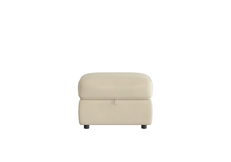Touch Leather Storage Footstool in Bv-862c Bisque on FV