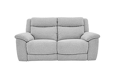 Bounce 2 Seater Fabric Recliner Sofa in Fab-Chl-R21 Chilli Frost on FV