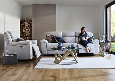 Bounce 2 Seater Leather Recliner Sofa in  on Furniture Village