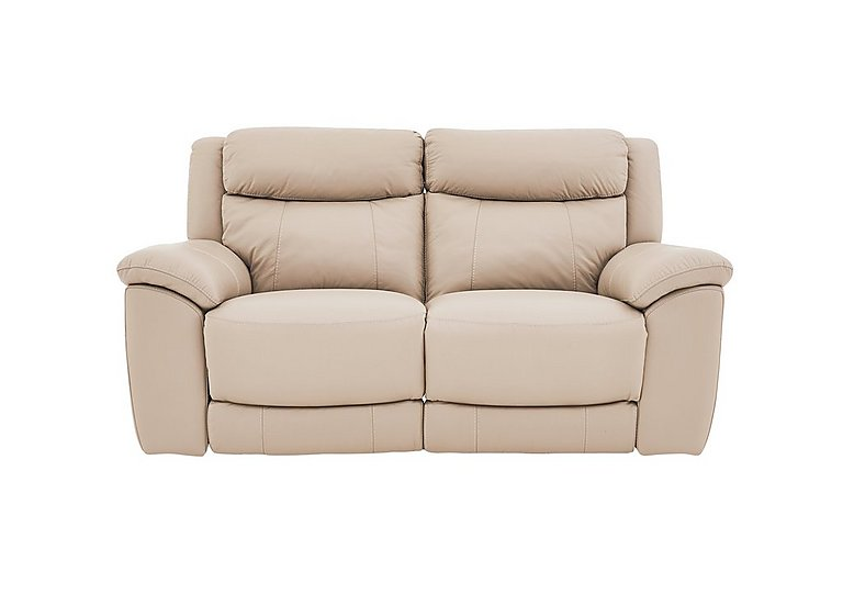 Bounce 2 Seater Leather Recliner Sofa in Bv-039c Pebble on Furniture Village