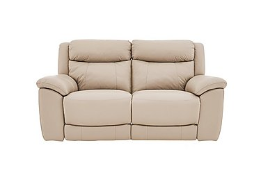 Bounce 2 Seater Leather Recliner Sofa in Bv-862c Bisque on FV