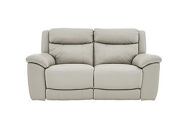 Bounce 2 Seater Leather Recliner Sofa in Bv-946b Silver Grey on FV