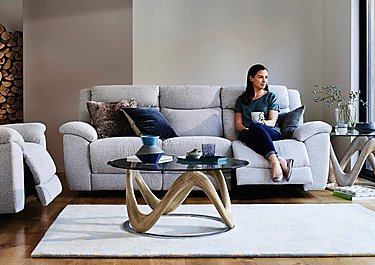 Bounce 3 Seater Fabric Recliner Sofa in  on FV