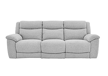 Bounce 3 Seater Fabric Recliner Sofa in Fab-Chl-R21 Chilli Frost on Furniture Village