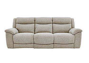 Bounce 3 Seater Fabric Recliner Sofa in Fab-Chl-R25 Chilli Biscuit on FV