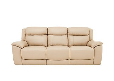 Bounce 3 Seater Leather Recliner Sofa in Bv-862c Bisque on FV
