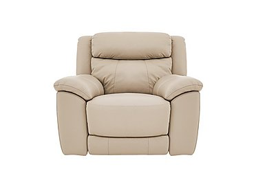 Bounce Leather Recliner Armchair in Bv-862c Bisque on FV
