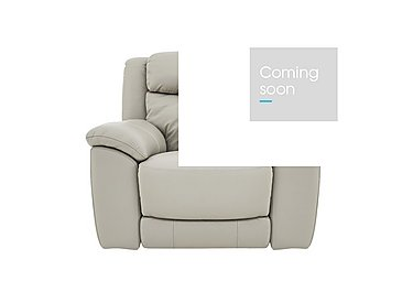 Bounce Leather Recliner Armchair in Bv-946b Silver Grey on FV
