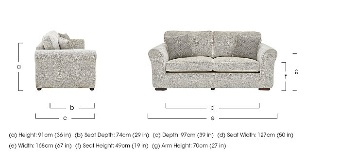 Devlin 2 Seater Fabric Sofa in  on Furniture Village