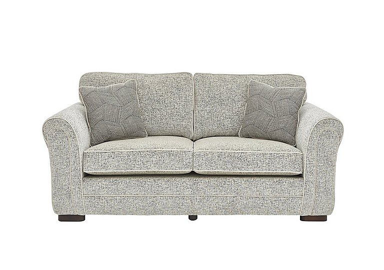 Devlin 2 Seater Fabric Sofa in Buzz Plain Marble Dk on Furniture Village