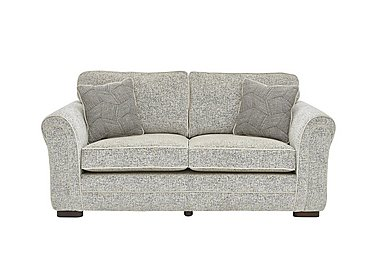 Devlin 2 Seater Fabric Sofa in Buzz Plain Marble Dk on FV