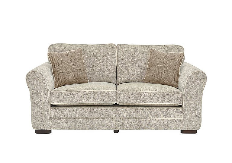 Devlin 2 Seater Fabric Sofa in Buzz Plain Sand Dk on FV