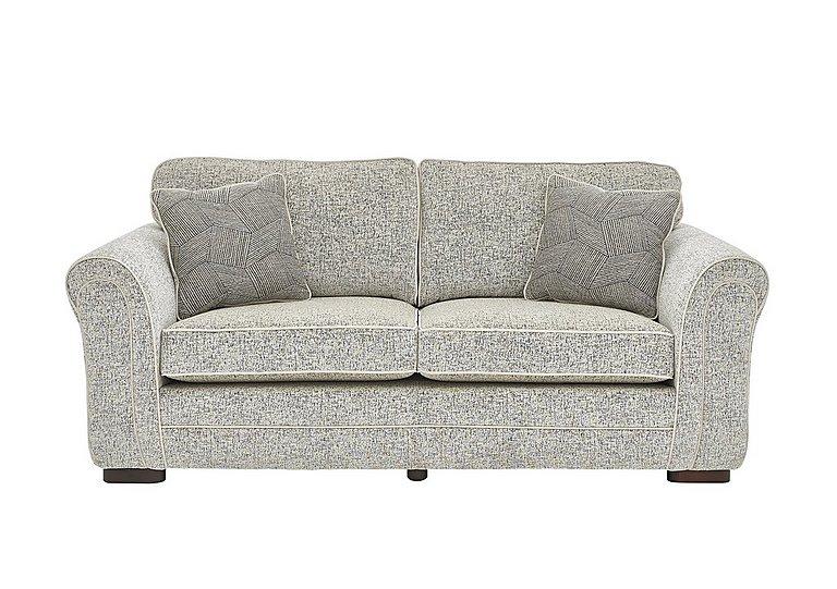 Devlin 3 Seater Fabric Sofa in Buzz Plain Marble Dk on Furniture Village