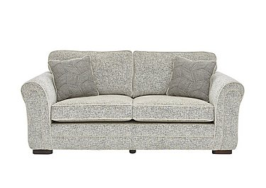 Devlin 3 Seater Fabric Sofa in Buzz Plain Marble Dk on FV