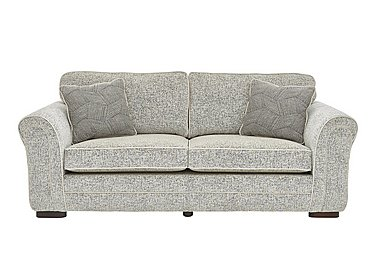 Devlin 4 Seater Fabric Sofa in Buzz Plain Marble Dk on FV