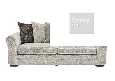Devlin 4 Seater Fabric Sofa in Buzz Plain Marble Dk on FV