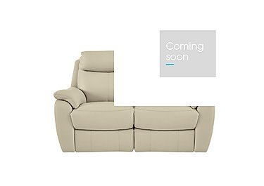 Snug 2 Seater Leather Recliner Sofa in Bv-862c Bisque on FV