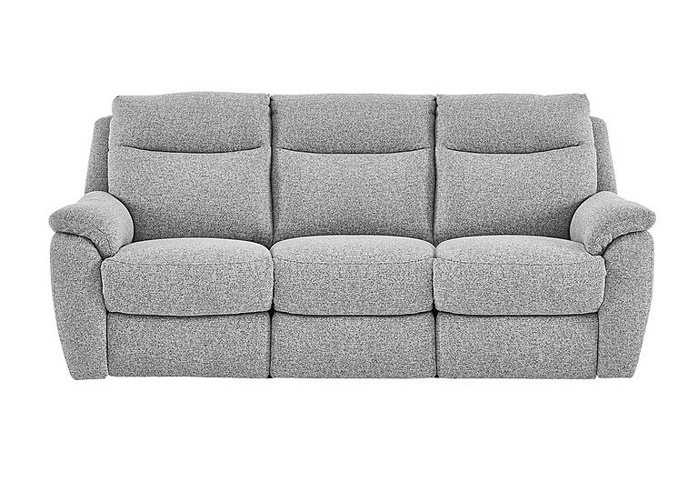 Snug 3 Seater Fabric Recliner Sofa in Fab-Chl-R21 Chilli Frost on FV