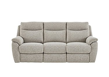 Snug 3 Seater Fabric Recliner Sofa in Fab-Chl-R25 Chilli Biscuit on FV