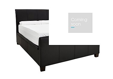 Liberty King Size Ottoman with Super Pocket Mattress in Black on FV