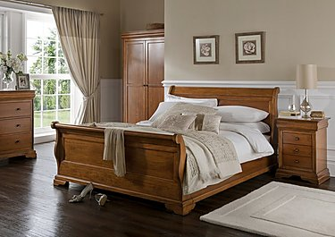 Louis Philippe End Storage Bed Frame in  on FV