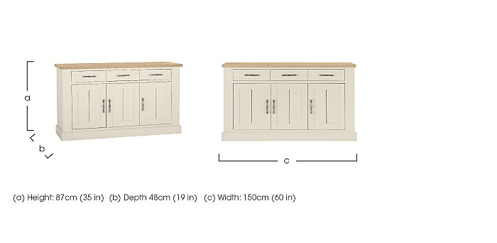 Pierre 3 Door Sideboard in  on FV