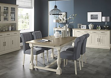 Pierre Extending Dining Table and 4 Upholstered Dining Chairs in  on FV