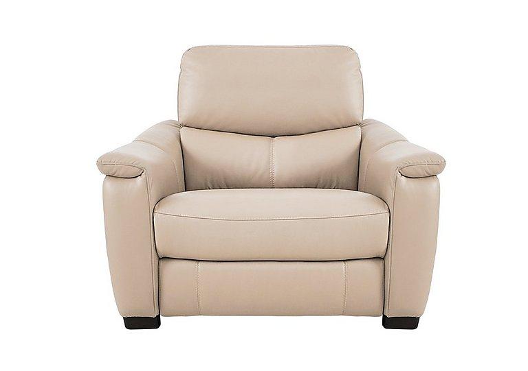 Flex Leather Recliner Armchair in Bv-862c Bisque on FV