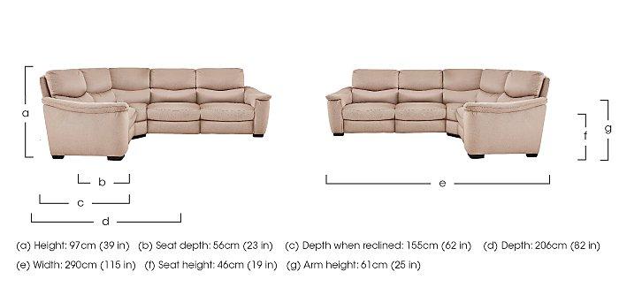 Flex Fabric Recliner Corner Sofa in  on FV