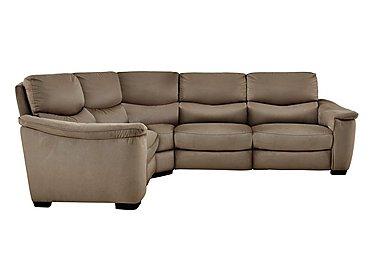 Flex Fabric Recliner Corner Sofa in Bfa-Blj-Rt04 Tobacco on FV