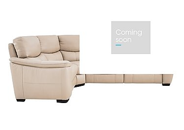 Flex Leather Recliner Corner Sofa in Bv-039c Pebble on FV