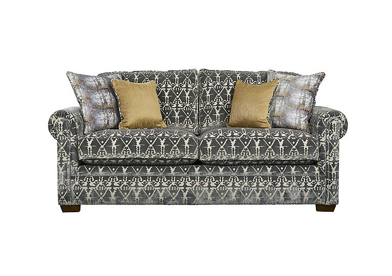 The Derwent Collection Eastmoor 2 Seater Fabric Sofa in 2378-95 Ikat Silver on FV
