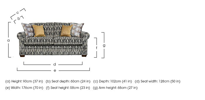 The Derwent Collection Eastmoor 2 Seater Fabric Sofa in  on FV