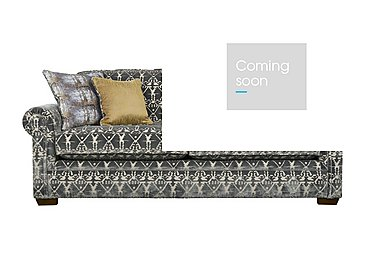 The Derwent Collection Eastmoor 4 Seater Fabric Sofa in 2378-95 Ikat Silver on FV
