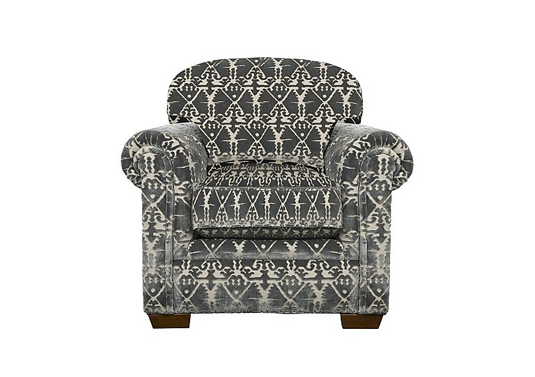 The Derwent Collection Eastmoor Fabric Armchair in 2378-95 Ikat Silver on Furniture Village