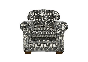 The Derwent Collection Eastmoor Fabric Armchair in 2378-95 Ikat Silver on FV