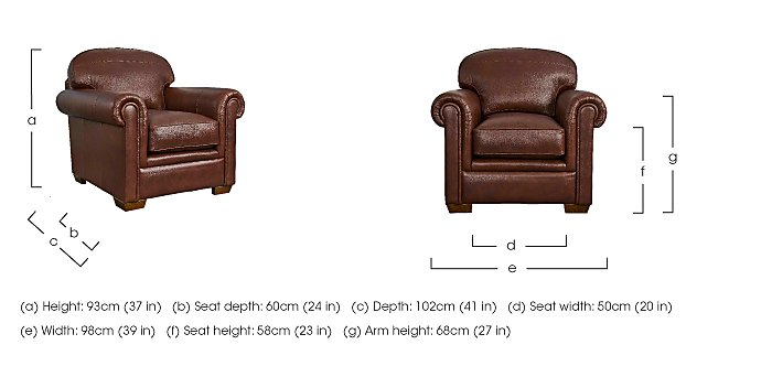 The Derwent Collection Eastmoor Leather Armchair in  on FV