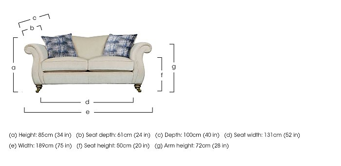 The Derwent Collection Cavendish 2 Seater Fabric Sofa in  on FV