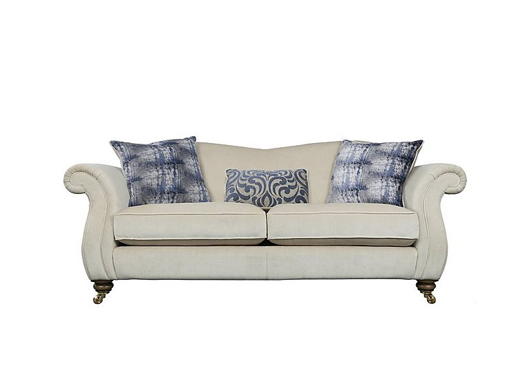 The Derwent Collection Cavendish 3 Seater Fabric Sofa in 1341-51 Vista Oyster on FV