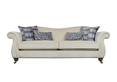 The Derwent Collection Cavendish 4 Seater Fabric Sofa in 1341-51 Vista Oyster on FV