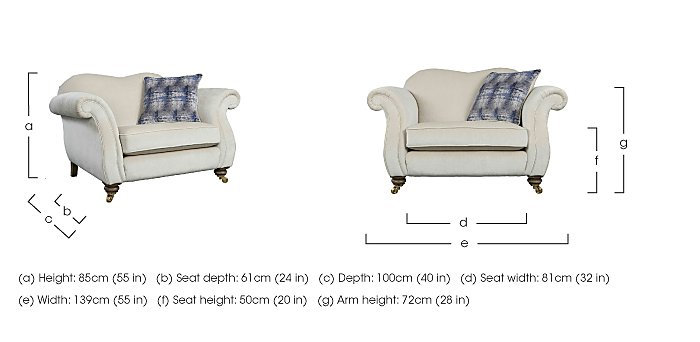 The Derwent Collection Cavendish Fabric Snuggler Armchair in  on FV