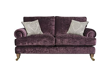 The Derwent Collection Bradwell 2 Seater Fabric Sofa in 1113-71 Mancini Aubergine on FV