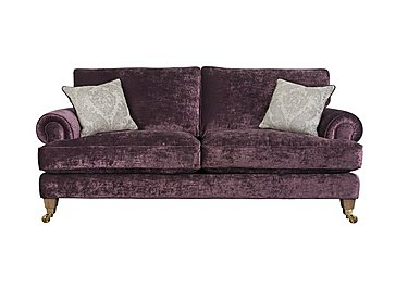 The Derwent Collection Bradwell 3 Seater Fabric Sofa in 1113-71 Mancini Aubergine on Furniture Village