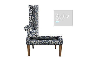 The Derwent Collection Hathersage Fabric Armchair in 2380-81 Swirl Medallion Indigo on FV