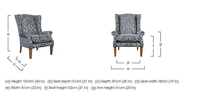 The Derwent Collection Hathersage Fabric Armchair in  on FV