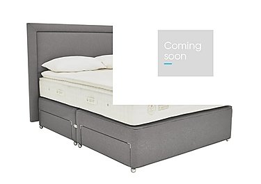 QEST Legacy Pillow Top Divan Set in Pewter on FV