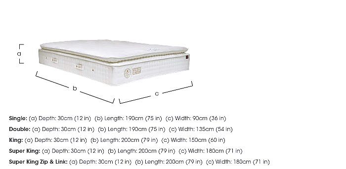 QEST Legacy Pillow Top Mattress in  on Furniture Village